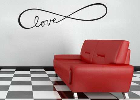 "Infinity Symbol Love Wall Decal Sticker 41.6""w x 12""h"