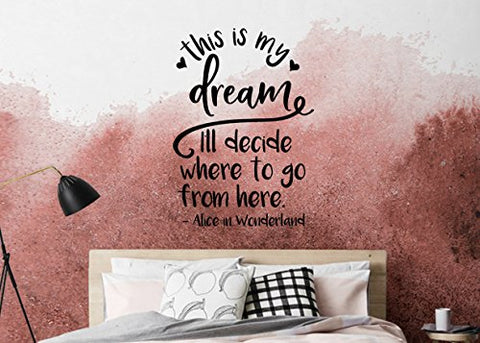 Alice In Wonderland This Is My Dream I'll Decide Where To Go From Here Wall Decal