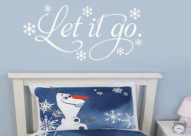 Let It Go Frozen Wall Decal