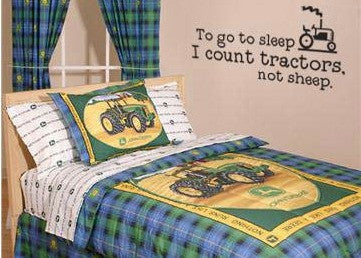 "To Go To Sleep I Count Tractors Not Sheep Wall Decal Sticker 28.5""w x 13""h"