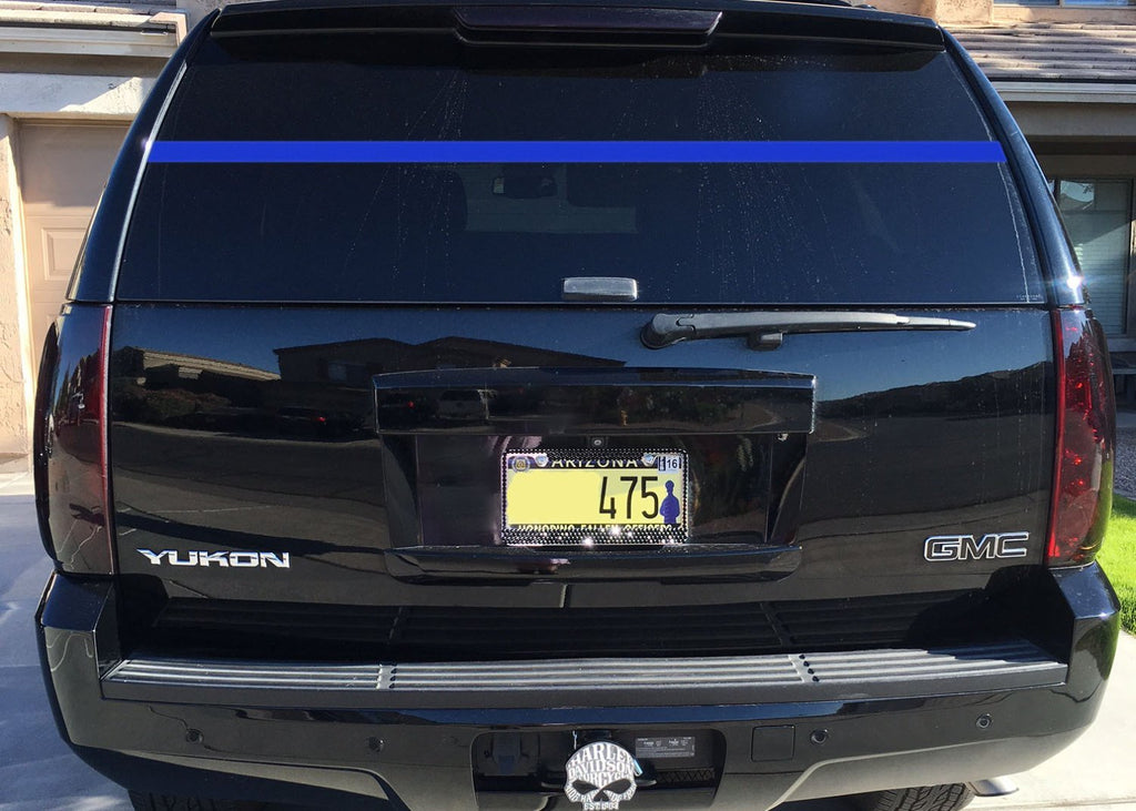 "Lucky Girl Decals Wall Decor Sticker Quote Lucky Girl Decals Wall Decor Sticker Quote Police Officer Support Thin Blue Line Rear Window Decal Sticker Blue Lives Matter Leo Law Enforcement 70""Wide By 2""High - Lucky Girl Decals"