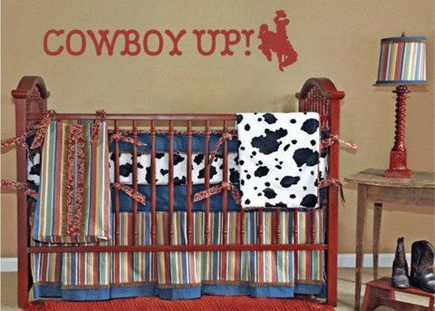 HUGE! Cowboy Up Vinyl Wall Decal Sticker