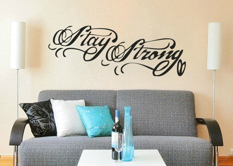 "Stay Strong Tattoo Demi Lovato Wall Decal Sticker 32.5""w x 12""h"