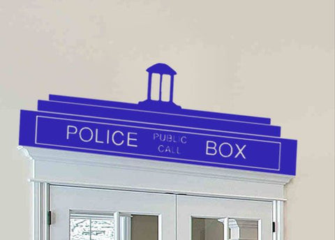 "Dr. Who Police Box Door Top Wall Decal Sticker 36"" W x 12.2"" H"