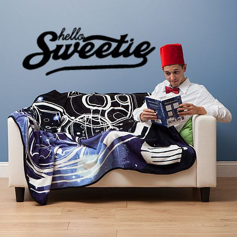 Dr. Who Hello Sweetie Wall Decal Parody