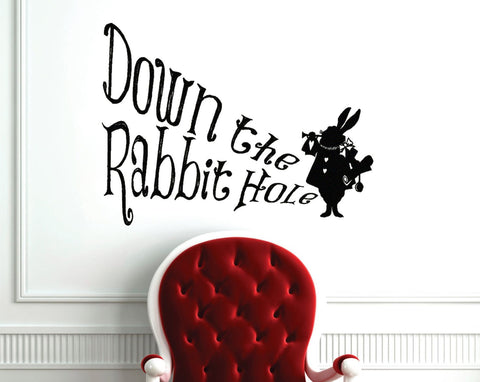 Alice In Wonderland Down The Rabbit Hole Wall Decal