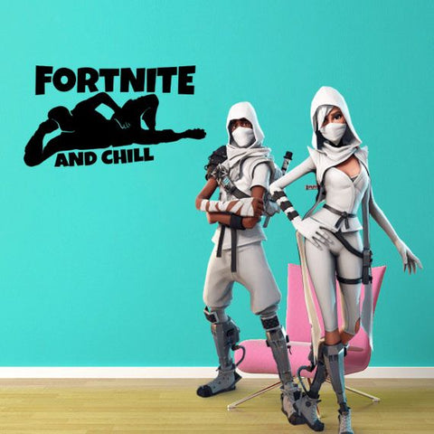 "Inspired by Fortnite And Chill For Gamer Wall Decal Sticker 19"" W By 12"" H"