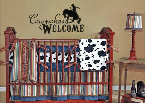 "Cowpokes Welcome Wall Decal Sticker 22.7""w x 12.5""h"