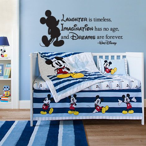 "Disney Laughter Imagination Dreams Wall Decal Sticker 27.5"" W x 12.25"" H"