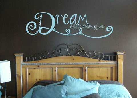 "Dream A Little Dream Wall Decal Sticker 42.3"" W x 12.5"" H"