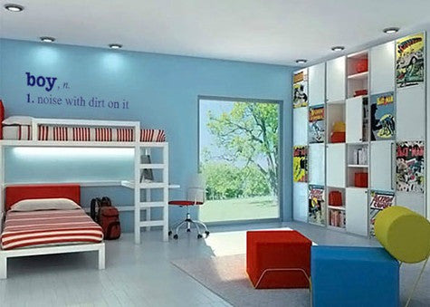 "Boy Definition Wall Decal Stickers 43.7""W x 12""H"