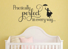 Lucky Girl Decals Wall Decor Sticker Quote Lucky Girl Decals Wall Decor Sticker Quote Mary Poppins Inspired Practically Perfect In Every Way Vinyl Wall Decal Sticker - Lucky Girl Decals