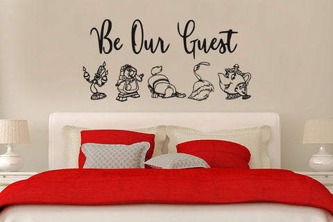 "Beauty And The Beast Be Our Guest Wall Decal Sticker 24""w x 12""h"