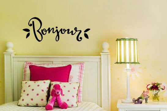 Inspired by Beauty and the Beast Wall Decal Sticker Bonjour!