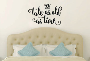 Lucky Girl Decals Wall Decor Sticker Quote Beauty And The Beast Wall Decal Sticker Tale As Old As Time - Lucky Girl Decals