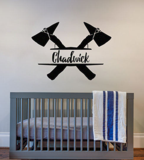Lucky Girl Decals Wall Decor Sticker Quote Tomahawk Boho Bohemian Personalized Custom Name Wall Decal Sticker