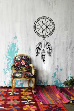 Lucky Girl Decals Wall Decor Sticker Quote Lucky Girl Decals Wall Decor Sticker Quote Dreamcatcher Dream Catcher Boho Bohemian Indian Wall Decal Sticker - Lucky Girl Decals