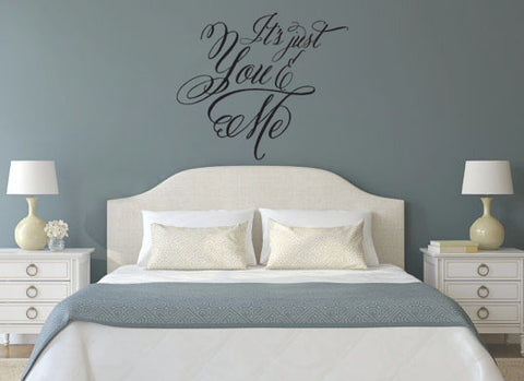 It's Just You and Me Vinyl Wall Decal Sticker - Romantic