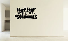 Lucky Girl Decals Vinyl Wall Decor Sticker Fortnite Players Heros Hashtag Squad Goals #Squadgoals 19.6 Inches Wide By 12 Inches High For Gamer - Lucky Girl Decals