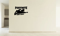 Lucky Girl Decals Vinyl Wall Decor Sticker Fortnite And Chill 19 Inches Wide By 12 Inches High For Gamer - Lucky Girl Decals