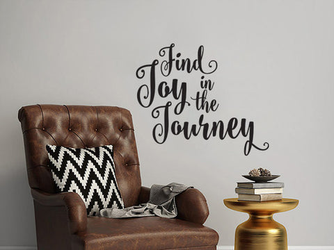 "Find Joy In The Journey Wall Decal Sticker 14.2"" W x 12"" H"