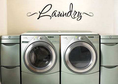 "Laundry Room Wall Decal Sticker 19.5""w x 5""h"