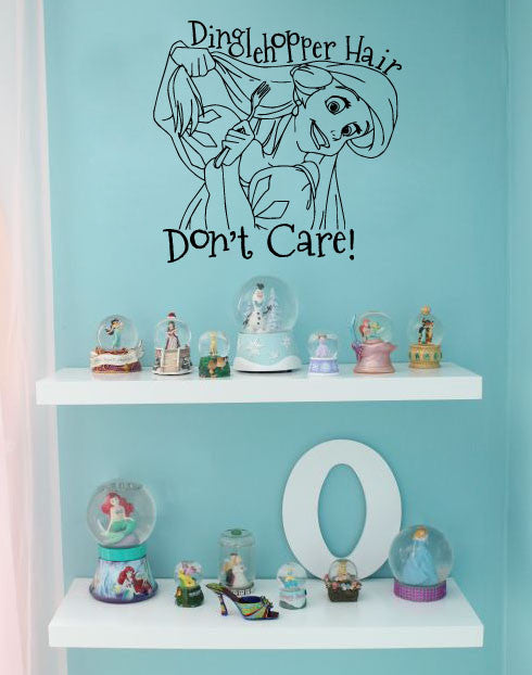 Nice Wall Decal Sticker Dinglehopper Hair Donu0027t Care