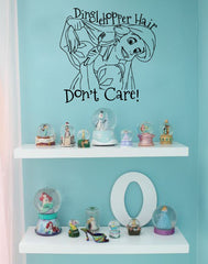 Wall Decal Sticker Dinglehopper Hair Don't Care
