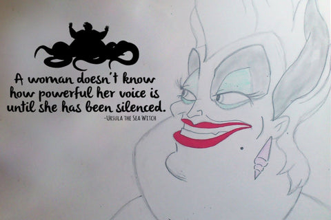 "The Little Mermaid Ursula Powerful Voice Wall Decal Sticker 19.3""w x 12""h"