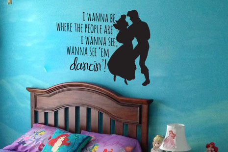 "The Little Mermaid Where The People Are Wall Decal Sticker 16.3""w x 12""h"