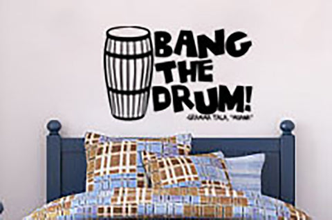 "Moana Bang The Drum Gramma Tala Wall Decal Sticker 18.8""w x 12""h"
