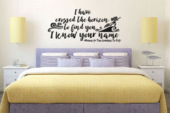 Lucky Girl Decals Wall Decor Sticker Quote Lucky Girl Decals Wall Decor Sticker Quote I Have Crossed The Horizon To Find You I Know Your Name Te Fiti - Lucky Girl Decals