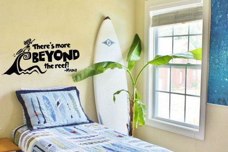 "Moana There's More Beyond The Reef Wall Decal Sticker 29.2""w x 12""h"