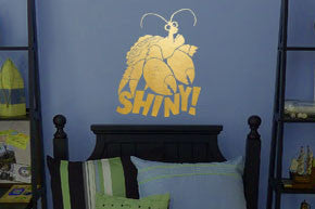 "Tamatoa Shiny Crab - Gold Wall Decal 9.6""w x 12.5""h"