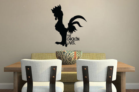 "Moana The Chicken Lives Wall Decal Sticker 10""w x 12""h"