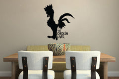 Wall Decal Sticker The Chicken Lives