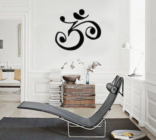 Lucky Girl Decals Wall Decor Sticker Quote Lucky Girl Decals Wall Decor Sticker Quote Om Symbol Spiritual Meditation Boho Bohemian Wall Decal Sticker Medium - Lucky Girl Decals