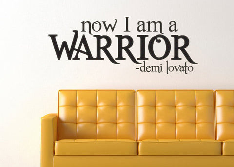 Demi Lovato Inspired Warrior Wall Decal Sticker