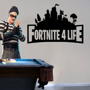 "Inspired by Fortnite Inspired 4 For Life Gamer Wall Decal Sticker 12"" W By 12"" H"
