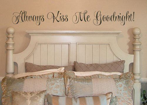 Lucky Girl Decals Wall Decor Sticker Quote Always Kiss Me Goodnight Vinyl Wall Decal - Lucky Girl Decals