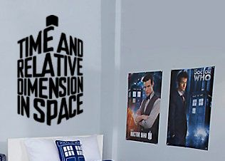 Dr. Who Time And Relative Dimension Wall Decal Parody Tardis
