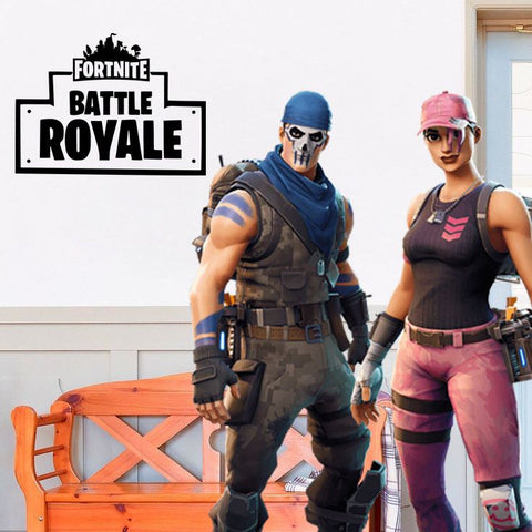 "Inspired by Fortnite Battle Royale For Gamer Wall Decal Sticker 16"" W By 12"" H"