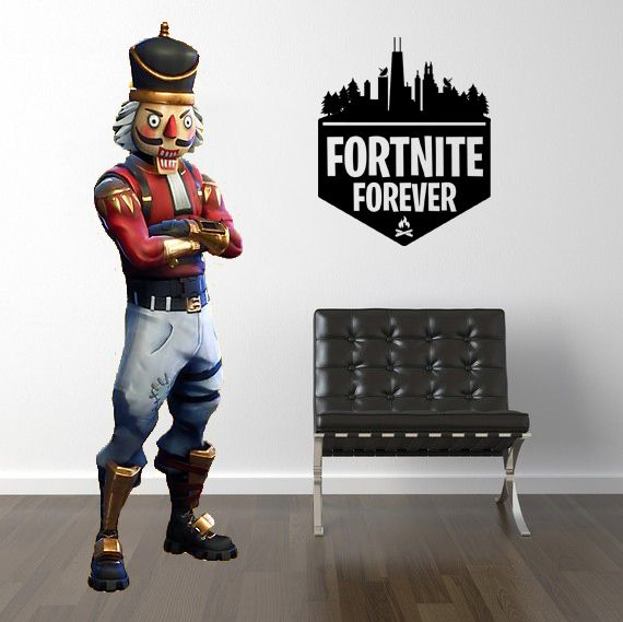 "Inspired by Fortnite 4 Ever Forever Gamer Wall Decal Sticker 10"" W by 12"" H"