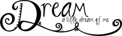 Lucky Girl Decals Wall Decor Sticker Quote Lucky Girl Decals Wall Decor Sticker Quote Dream A Little Dream Vinyl Decal Sticker - Lucky Girl Decals