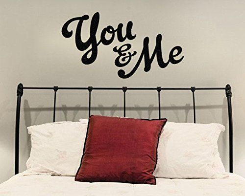 "Copy of You And Me Wall Decal Sticker 22""W x 12""H"
