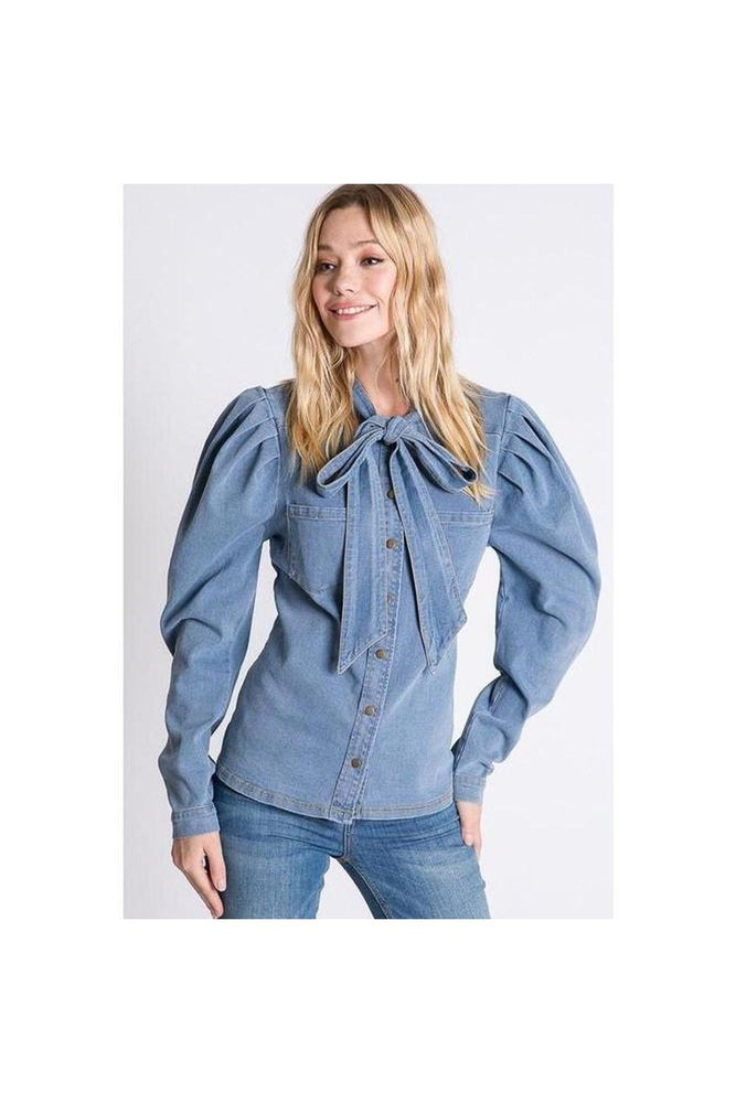 Denim Darla Blouse