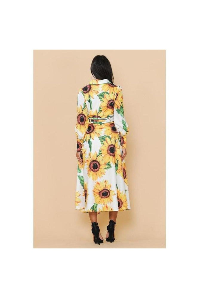 Sunflower Midi Dress