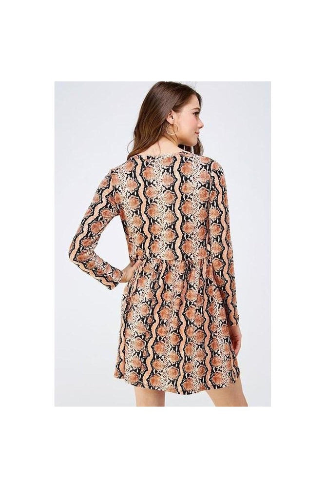 Snakeprint Mini Dress