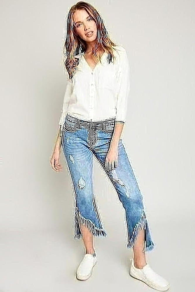 Flirty Frayed Jeans