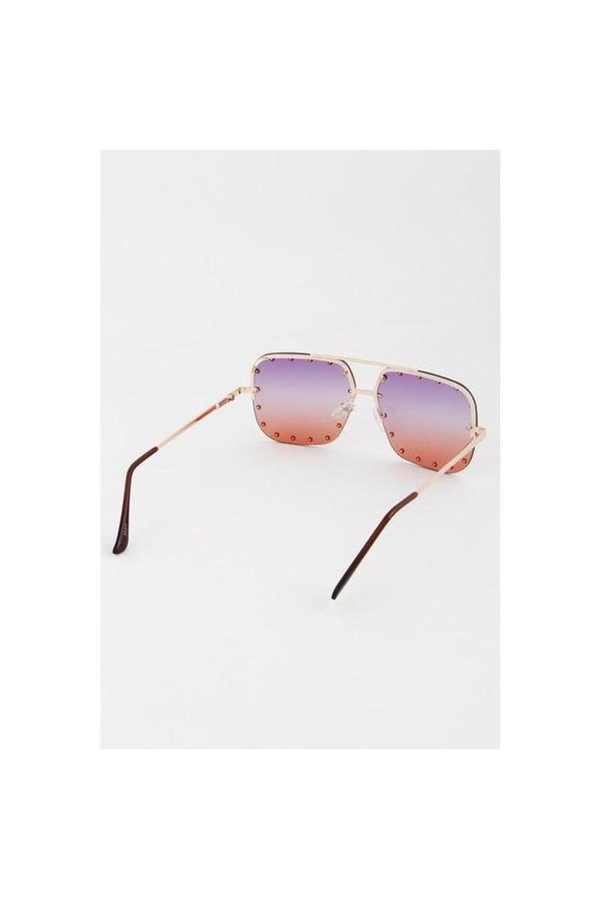 Studded Aviator Sunglasses
